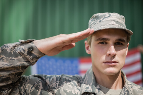 Roof It Right Roofs For Troops - Troop Saluting Image